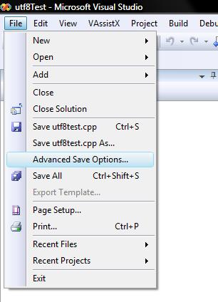 Advanced save in Visual Studio 2008